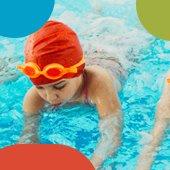 photo of girl swimming