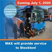 New MAX service to Stockton starting July 1