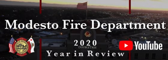 Image of modesto fire department year in review logo