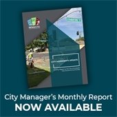 city manager monthly report cover