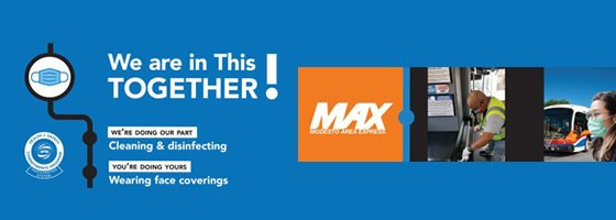 image of max bus and in this together logo