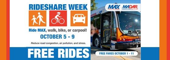 image of max bus and rideshare logo