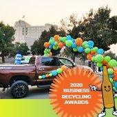 photo of drive-thru recycling awards