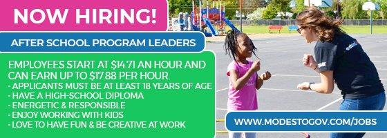 now hiring after school program leaders