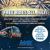 Free MAX Rides for All July