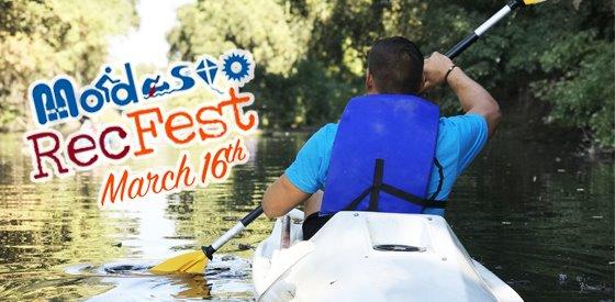 Rec Fest boating in dry creek