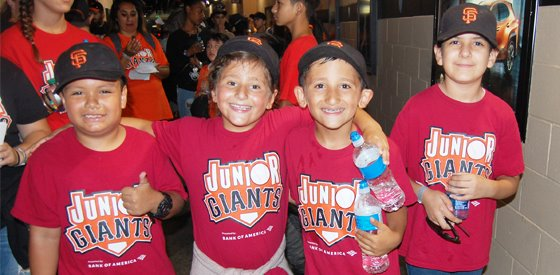 PHOTO OF JR. GIANTS CHILDREN