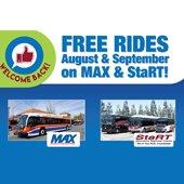image of free rides transit logo