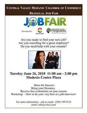 2018 CVHCC Job Fair flyer-public