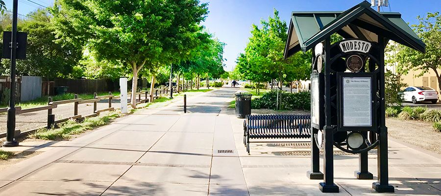 Entrance to the Virginia Corridor Rotary Junction Plaza