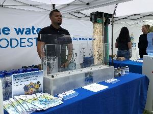 Imagine a Day Without Water Event Booth
