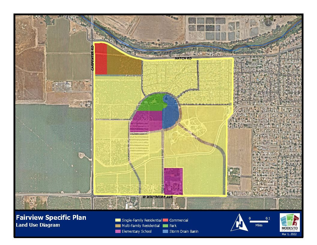 Fairview Village Specific Plan Land Use Diagram