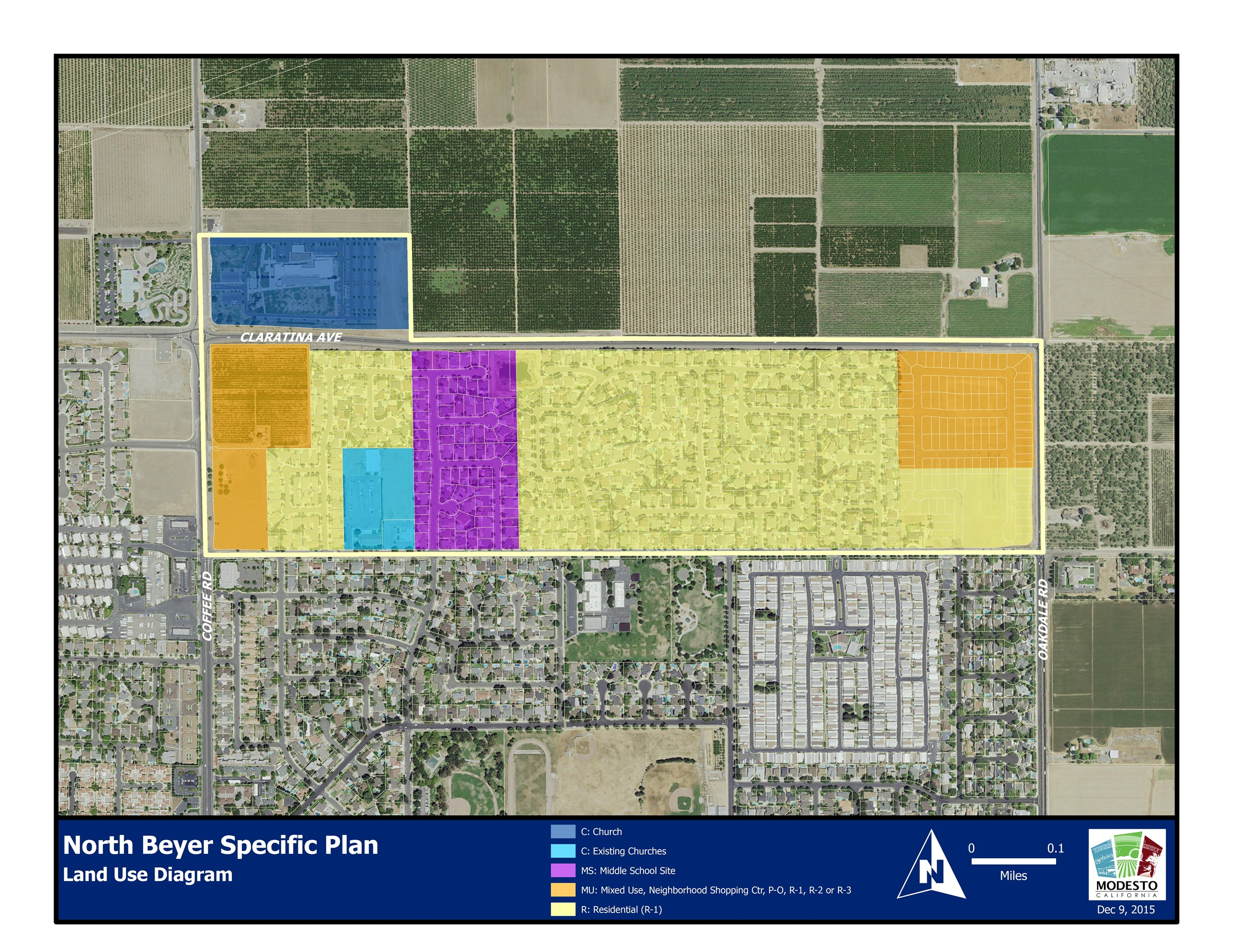 North Beyer Specific Plan Land Use Diagram