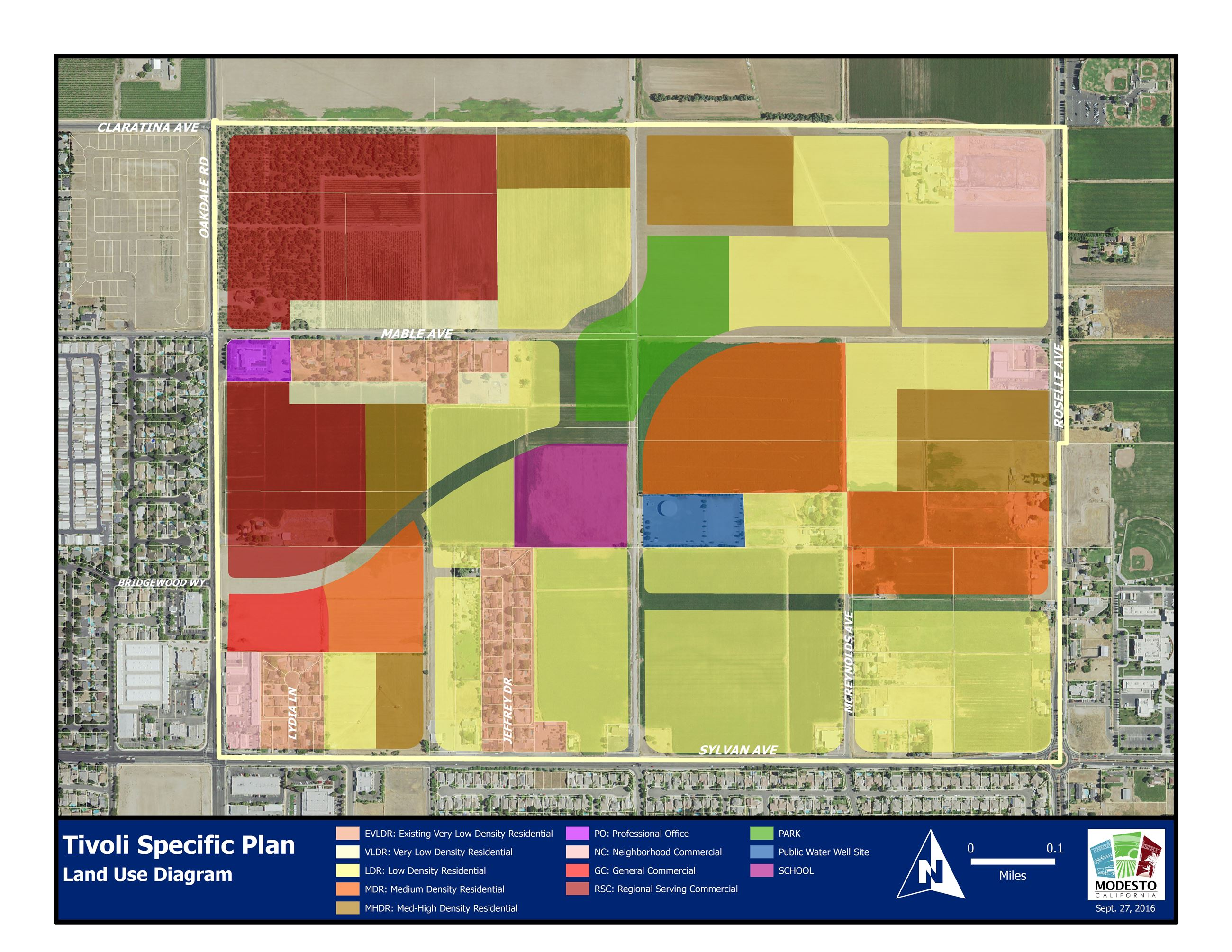 Tivoli Specific Plan Land Use Diagram