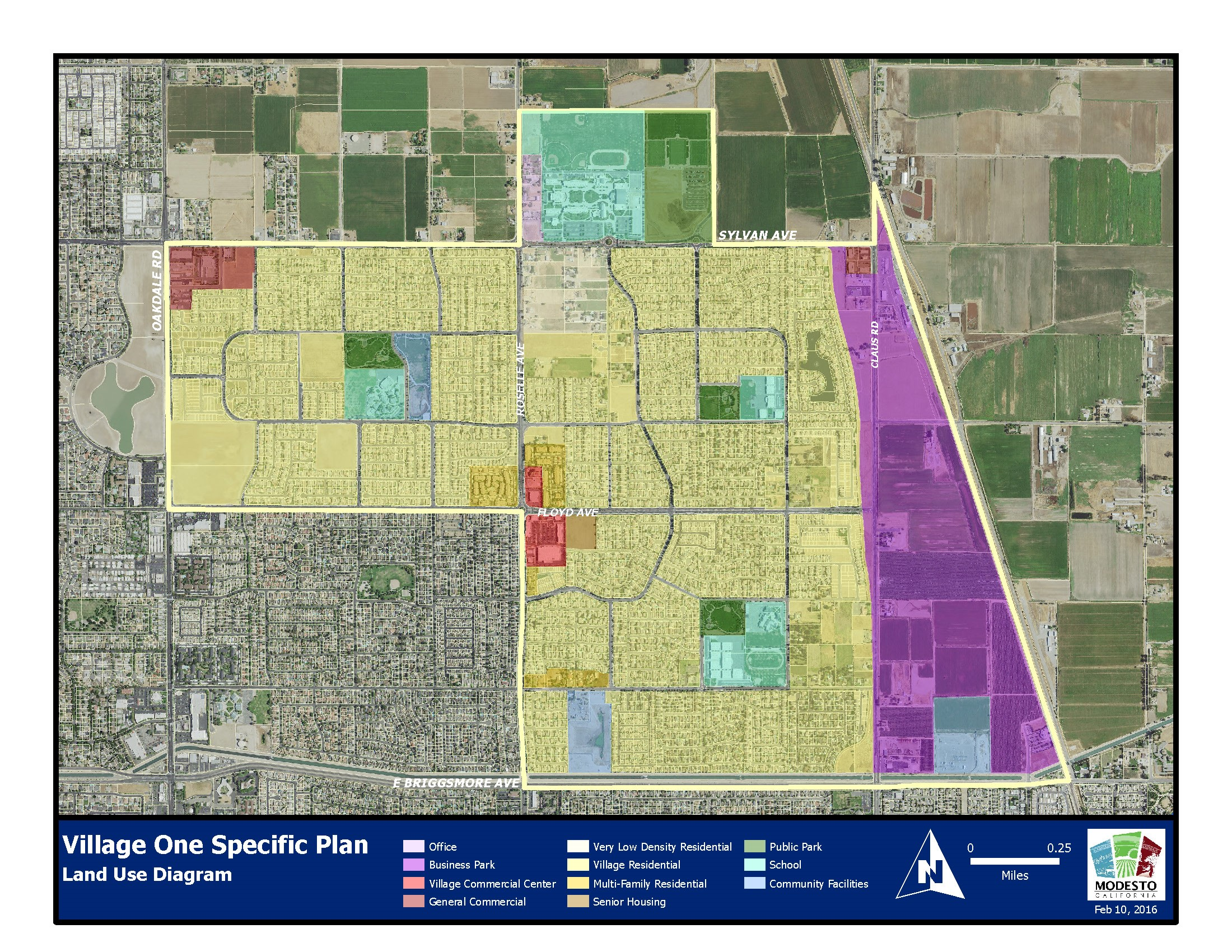 Village One Specific Plan Land Use Diagram