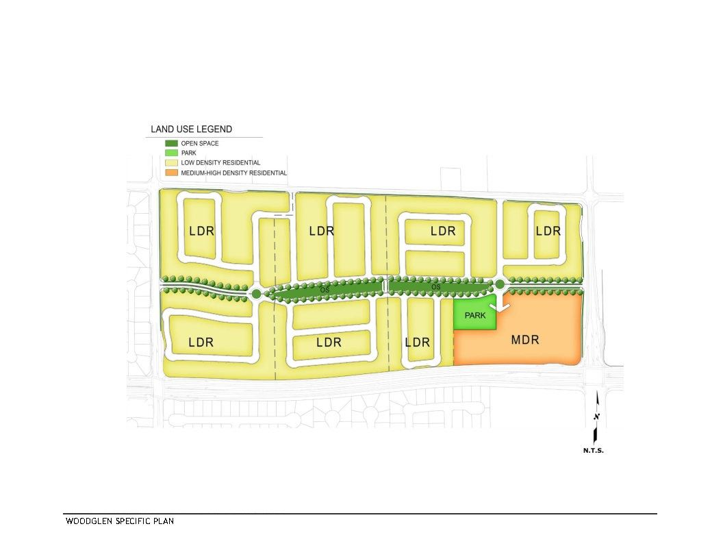 Woodglen Specific Plan Land Use Diagram