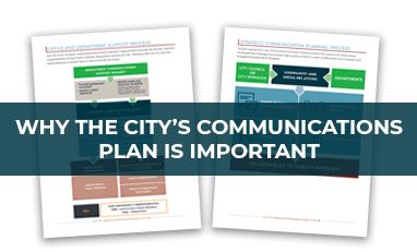 image of two pages of communications plan