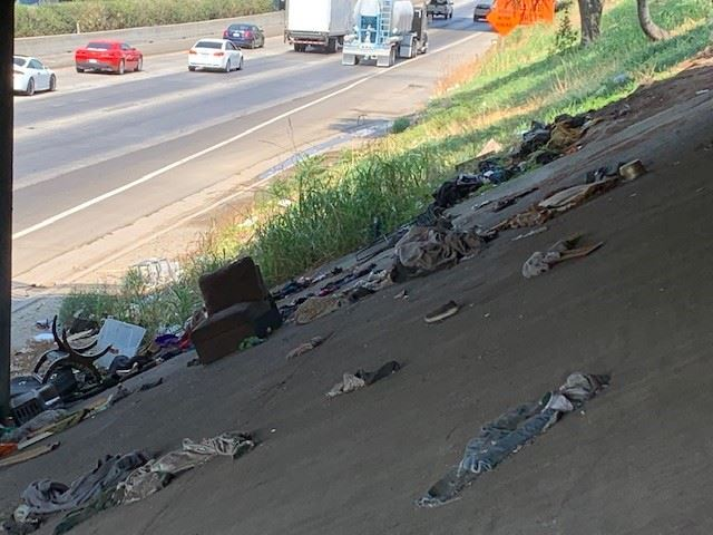 State Route 99 Underpass before cleanup