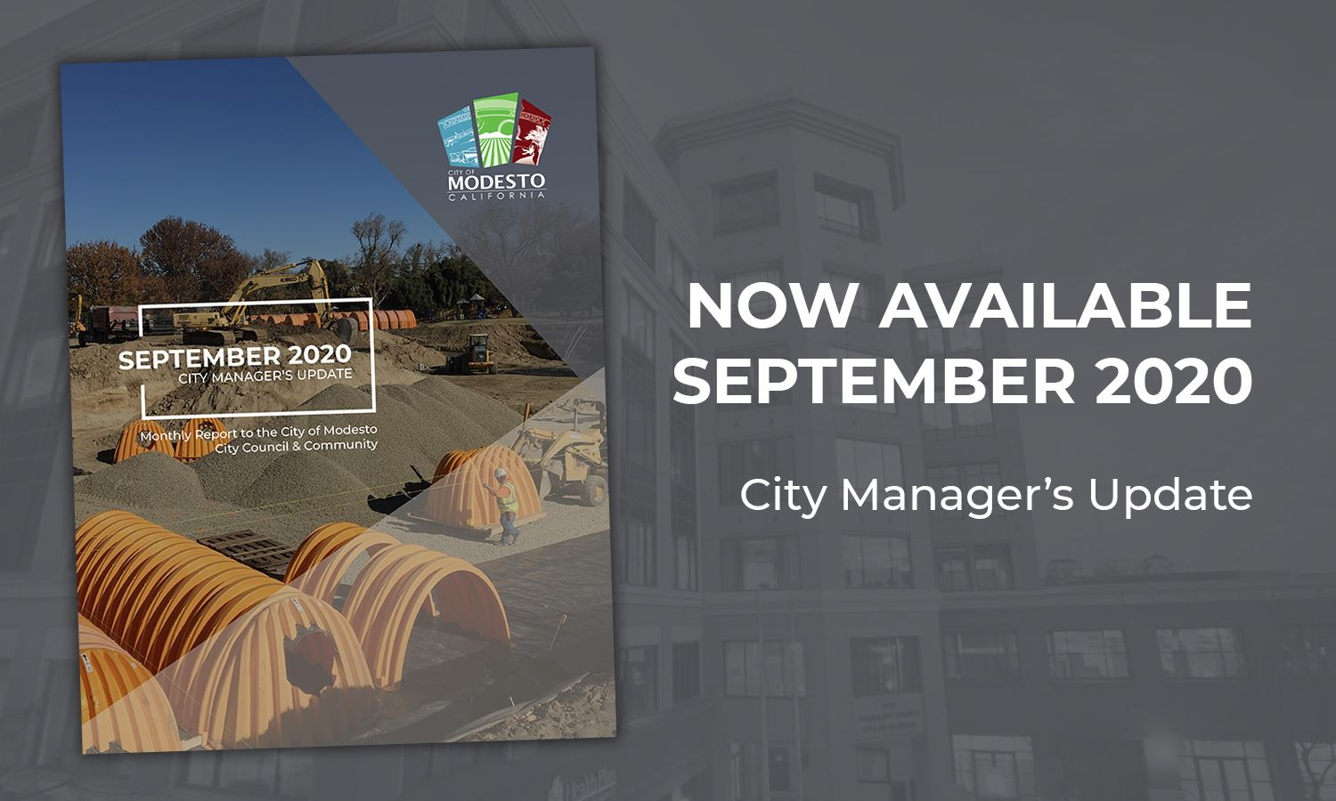 City Manager Monthly Report Now Available 2020 - SEPTEMBER