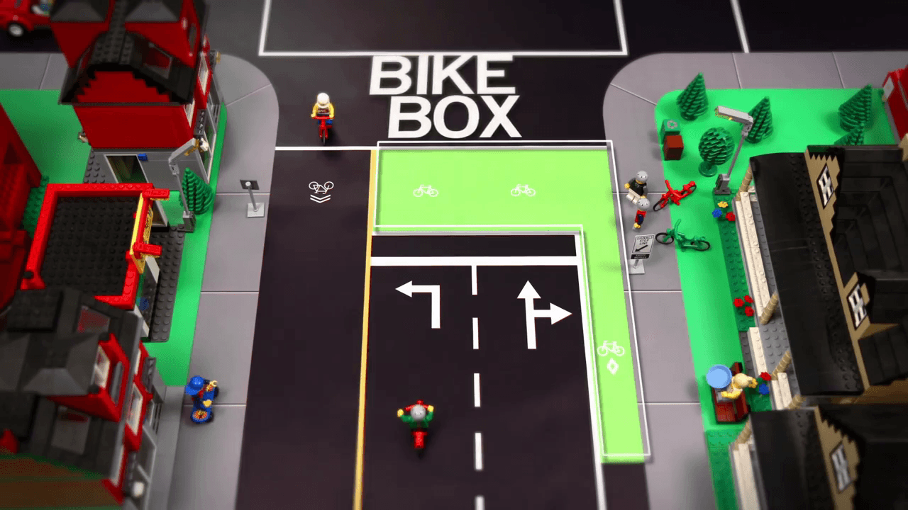 Bike Box: 4 Way Intersection