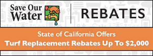 Save Our Water Turf Replacement Rebate Logo