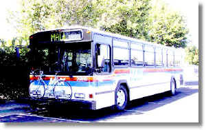 Image of MAX Bus with bike rack