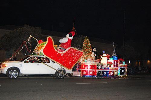 Santa Sled Float