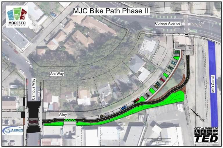 Mjc Bike Path Project Phase Ii Modesto Ca