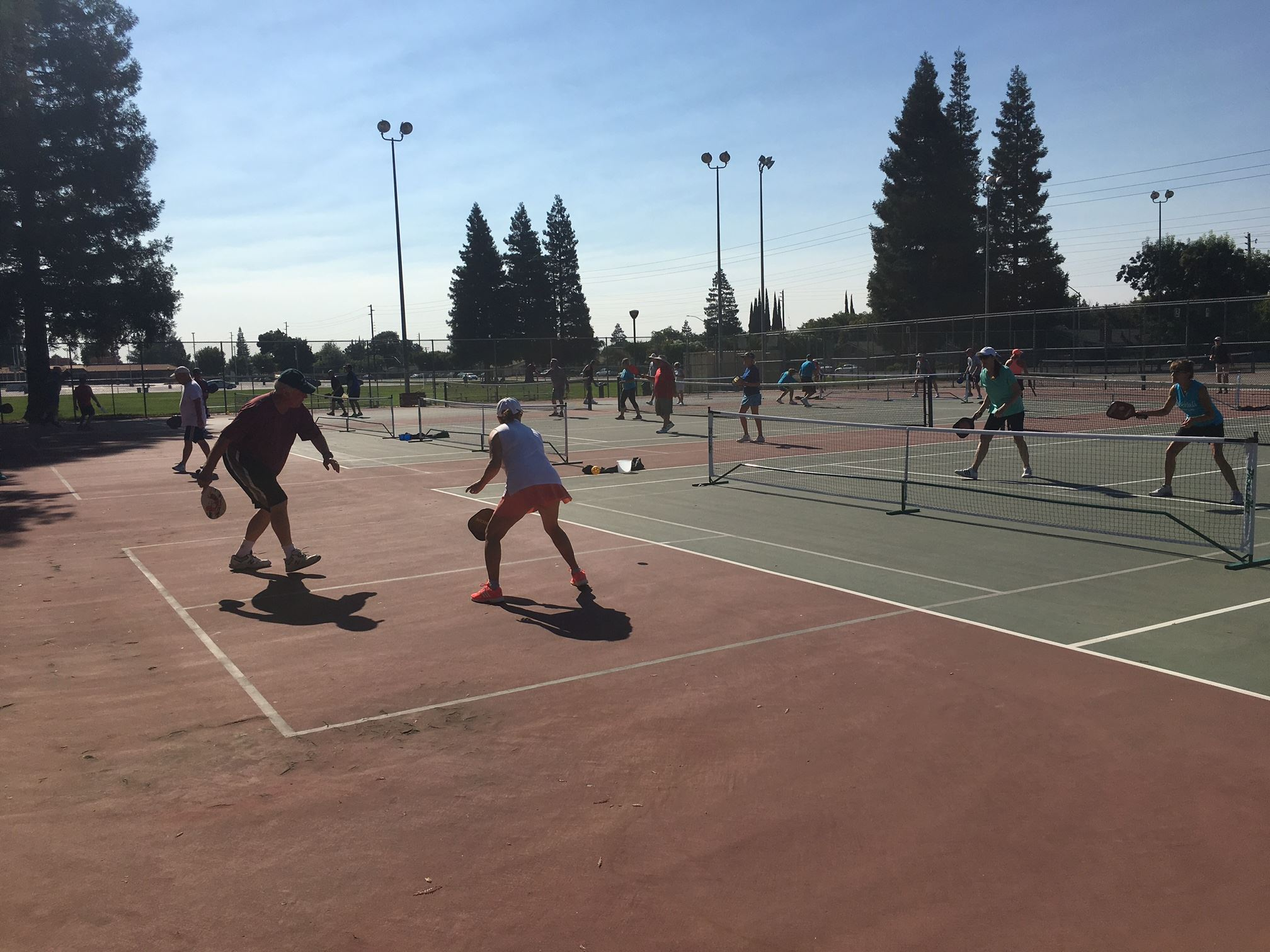 Beyer Tennis Courts- Pickle Ball Players