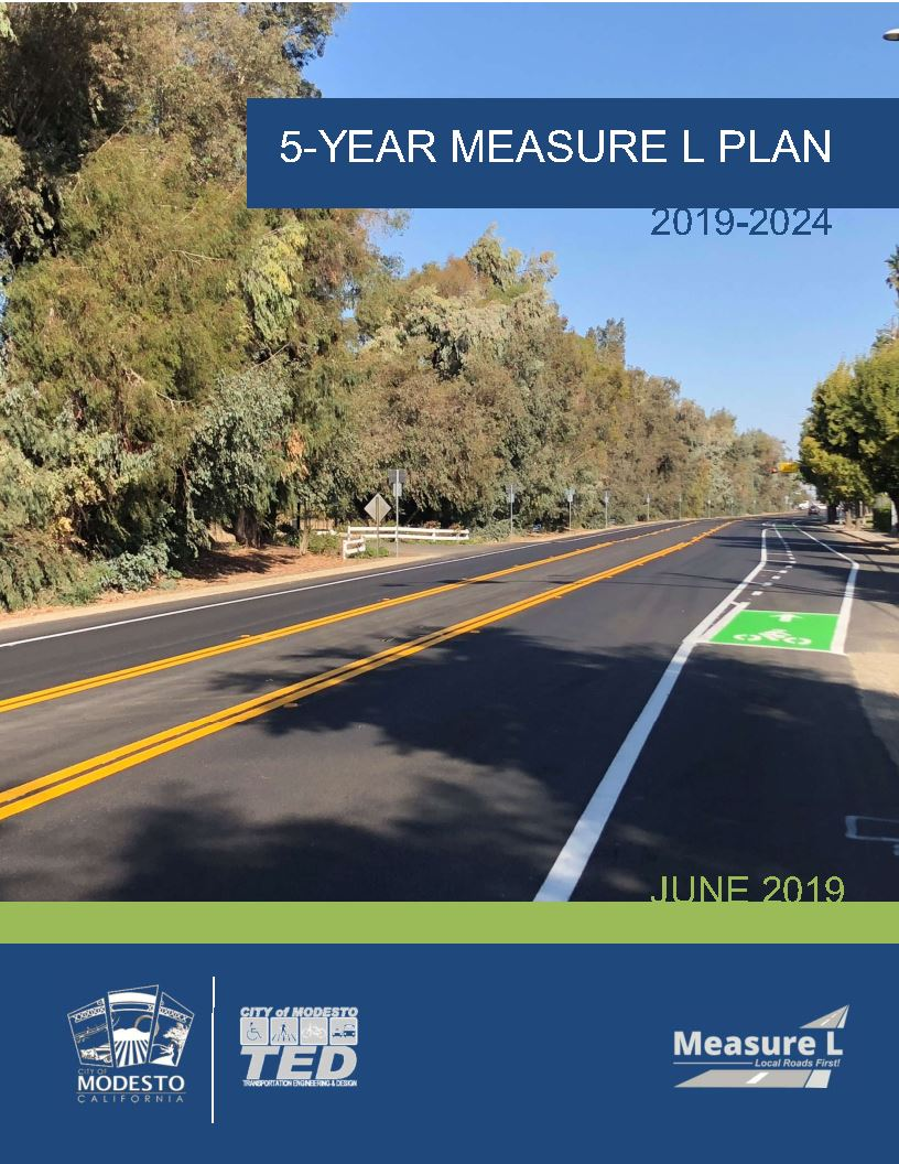 Cover of the City of Modesto - Measure L Five Year Plan (2019-2024) Opens in new window