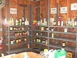Shelves of Household Hazardous Waste