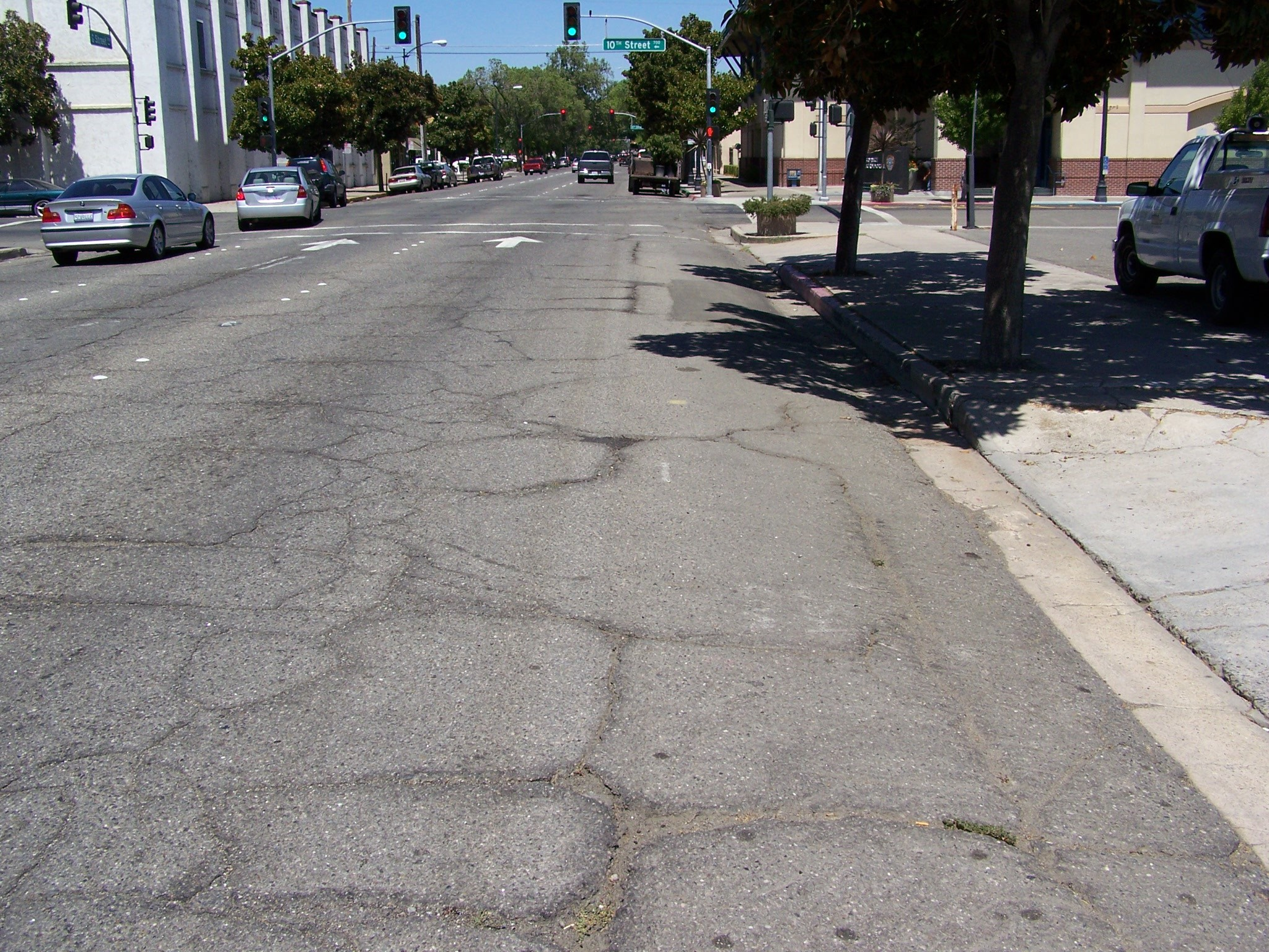 Worn Surface of G Street
