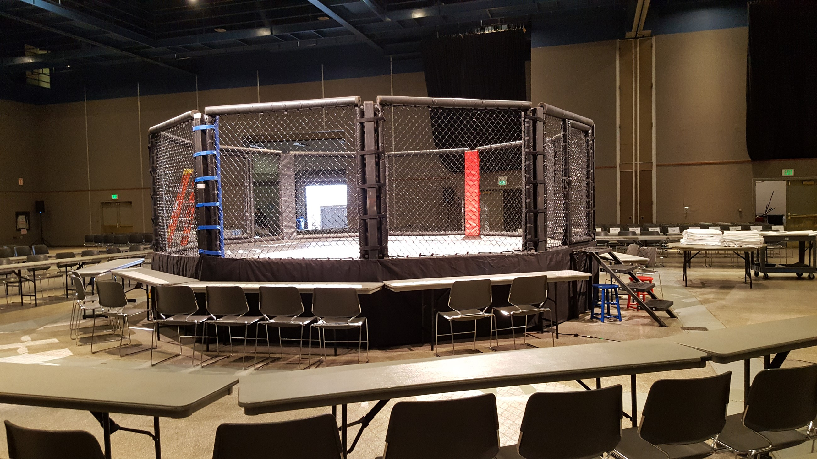 Completed cage, let the fighting begin